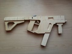 How to make MEGA EASY!!! Super Kriss Vector rubber band gun Wood Free template tutorial - YouTube