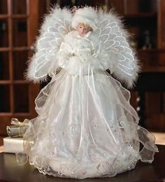 victorian christmas tree toppers | Fiber Optic Angel Tree topper...