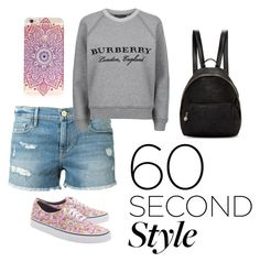 """""""60 Seconds Style"""" by marce104 ❤ liked on Polyvore featuring Frame Denim, Burberry, STELLA McCARTNEY, summercamp and 60secondstyle"""