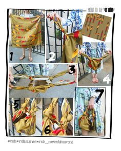 Want to wear your IRIDA scarf as a little beach bag? There is nothing easier!