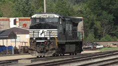 Norfolk Southern 9091 warming up in the Powell Yard in Manassas, Va. Photo by Kathy Fite Simon 7/15/17