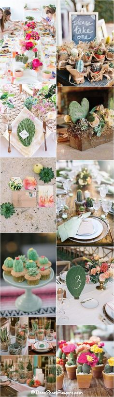 rustic wedding ideas - cactus wedding ideas and themes / http://www.deerpearlflowers.com/cactus-wedding-ideas/