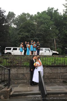 Pure Platinum Party - Bride and Groom, wedding party, Limo ,diamond limousines