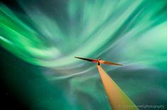 Wind Turbine under the dance of the Northern Lights. Photo shot recorded October 2015 in Oulu, Finland near Oulunsalo Lauttaranta. Wind Power, Lights Background, Wind Turbine, Fountain, Northern Lights, Meet, Sky, Heaven, Water Well