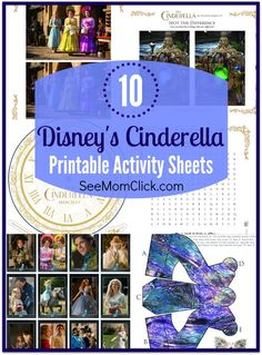 Disney's CINDERELLA is gorgeous in every way! Here are 10 free printable activity sheets for the kids to enjoy the Disney princess magic at home!