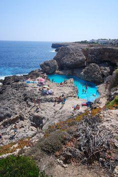 La piscine naturelle Las Rocas à Cala d'Or- Majorque