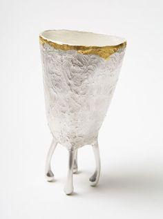 Felicity Peters. Vessel: Ocean Eddies, 2014. Silver, 24ct gold Keum Boo. 5.9 x…