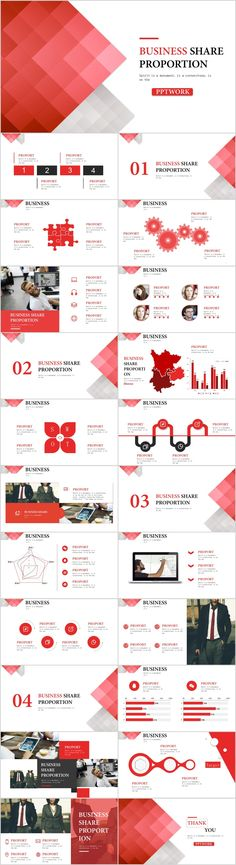 Annual Report Ppt Template New 23 Red Business Share Chart Powerpoint Template Workslide Template - Professional Templates Office Powerpoint Templates, Cool Powerpoint Backgrounds, Professional Powerpoint Templates, Microsoft Powerpoint, Presentation Software, Business Presentation, Presentation Design, Report Card Template, Keynote Template
