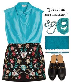 """Teal is Ideal"" by marialibra ❤ liked on Polyvore featuring Isa Arfen, Gucci, Stila and Karen Millen"