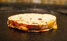 Cook you egg quesadilla on a hot griddle mjskitchen.com