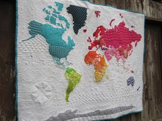 Pdf pattern our world patchwork map quilt pattern full sized listing is for my modern world map quilt pattern finished size is a wall quilt measuring gumiabroncs Image collections