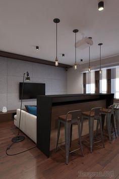 Холостяцкая квартира в стиле лофт