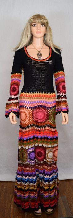 70 mujeres Vintage 1960 ganchillo colores por RETROLANDVINTAGE