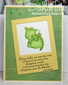 Stamping Bella JANUARY 2017 rubber stamp release-SET OF DRAGONS card by Dana White