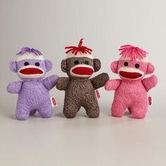 One of my favorite discoveries at WorldMarket.com: Knit Baby Sock Monkeys, Set of 3