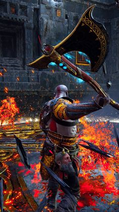 god of war God Of War Series, Cosplay Sword, Kratos God Of War, Lets Play A Game, Character Wallpaper, Gaming Wallpapers, Norse Mythology, Video Game Art, Playstation