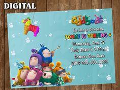 Oddbods Digital Party Invitation Custom Personalized