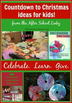 countdown to ideas for kids the measured mom Countdown to Christmas ideas for kids! (and a new After School Link up) Christmas Love, Christmas Countdown, All Things Christmas, Winter Christmas, Christmas Ideas, Holiday Crafts For Kids, Holiday Fun, Christmas Crafts, Festive