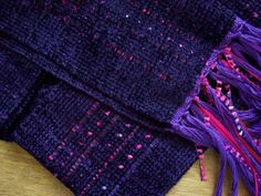sale handwoven scarf blackberry plum OOAK by masonke on Etsy, $38.00