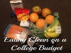 College grocery shopping on $30, $15, and $5 budget