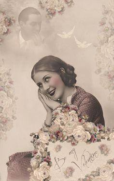 JanetK.Design Free digital vintage stuff: Be my Valentine