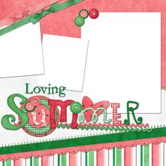 "Photo from album ""Slice of Summer"" on Yandex. Scrapbook Sketches, Scrapbook Layouts, Free Digital Scrapbooking, Newsletter Templates, Layout Template, Paper Pumpkin, Yandex Disk, Views Album, Word Art"