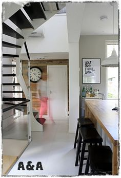 black stairs, a&a at home