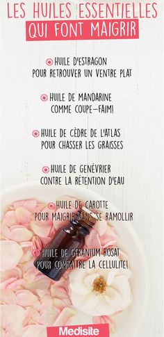 Les huiles essentielles qui font maigrir Certain essential oils facilitate and accelerate weight loss. The list of those to adopt to quickly find a fine and harmonious silhouette! Paleo Diet Plan, Easy Diet Plan, Diet Plans, Best Fat Burning Foods, Lose Weight, Weight Loss, Fitness Diet, Fitness Gear, Fitness Quotes