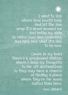 Soul Meets Body: Death Cab for Cutie lyrics