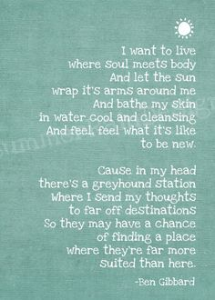Soul Meets Body: Death Cab for Cutie lyrics