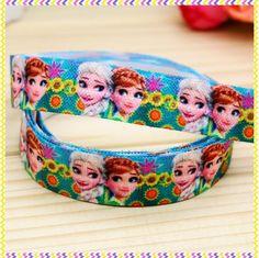 5/8'' Free shipping Fold Over Elastic FOE fever printed headband headwear hair band diy decoration wholesale OEM B937