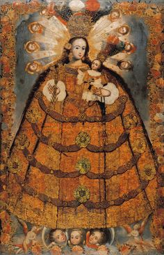Anonymous; School of Cuzco    Virgin of the Rosary of Pomata    18th century    Oil on canvas    78 x 51""
