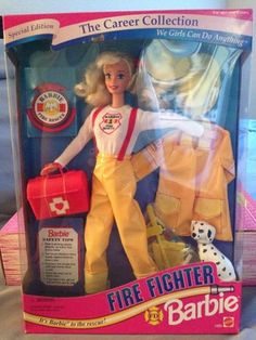 Fire Fighter Barbie from The Career Collection | eBay if I have a girl she will have this!!!