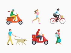 Creative Iconography, People, Icon, and Illustration image ideas & inspiration on Designspiration People Illustration, Flat Illustration, Character Illustration, Watercolor Illustration, Digital Illustration, People Icon, People Art, Sketches Of People, Drawing People
