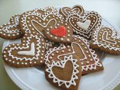 Valentine Gingerbread Cookies