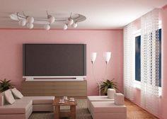 wände streichen ? ideen für das wohnzimmer - wand farbe streichen ... - Wohnzimmer Ideen Rosa