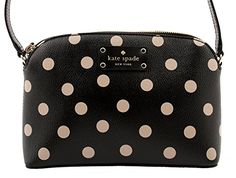 Women's Cross-Body Handbags - Kate Spade New York Wellesley Printed Hanna Crossbody Shoulder Bag Purse BlackDeco Beige -- You can find more details by visiting the image link.