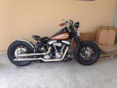 Bobber Inspiration | '09 Harley Cross bones bobber by Fabio from... | June 2014