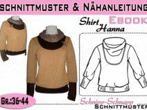 """Schnittmuster/Anleitung Ebook Shirt """"Hanna"""" 36-44"""