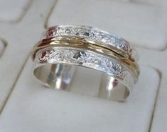 Silver and Gold Jewelry Designer by TalyaHarelDesign Silver Wedding Rings, Silver Engagement Rings, Bridal Rings, Wedding Ring Bands, Ring Engagement, Clay Jewelry, Jewelry Rings, Silver Jewelry, Unique Jewelry