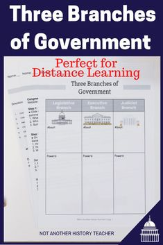 Get this amazing distance learning three branches lesson today! Learn about the three branches of government and checks and balances through this interactive bundle. Distance Learning ready handouts as a PDF or editable Google activity! No need to edit or modify