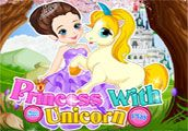 Girls Games | Princess with Unicorn  Our little princess is getting ready for the Kings birthday party, Guide the princess to choose a unique gorgeous outfit. Hey girls! also don't forget to style up the pony.