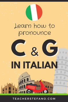Ciao! Have you found yourself struggling in pronouncing the C and G correctly in Italian? Well, I get it. Italian pronunciation is not that hard but these two sounds can be tricky sometimes. In today's article, we will see how the C and G are pronounced in Italian and we will also see some useful examples. Listening to these two sounds is very important, so make sure to watch the video to actually listen to the sounds. G Sound, Italian Pronunciation, Italian Lessons, How To Pronounce, Learning Italian, Single Words, I Got This, Languages, Finding Yourself