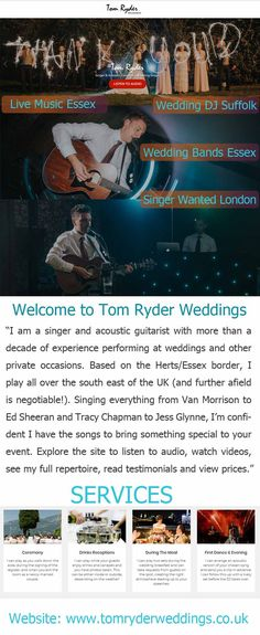 Singer Wanted London :- Wanted a leading singer for a lovely and memorable musical program during your wedding in London? Look no further than Tom Ryder. He works alongside some excellent bands, including saxophonist Greg Camburn and has performed at stunning wedding venues with fantastic hosts.