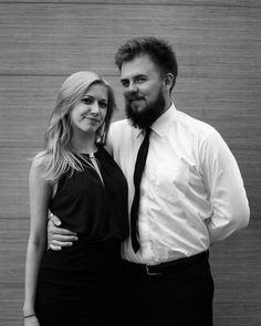 Pan i Pani.  #couple #elegant #black #dark #blackandwhite #beard #moustache