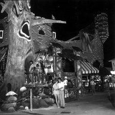 Haunted Castle ride tree facade by King Power Cinema, via Flickr