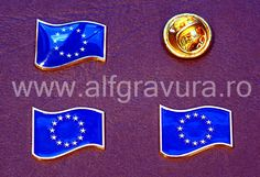 Insigna  Drapelul UE Enamel, Vitreous Enamel, Enamels, Tooth Enamel, Glaze