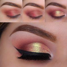 tutorial maquiagem dourada