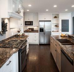 Custom kitchen cabinetry with Cambria quartz countertops