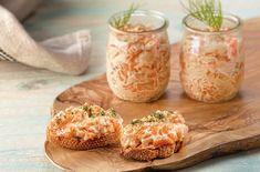 Una receta de Martín Berasategui perfecta para tostas y entrantes a base de 'rillette' de salmón fresco y ahumado